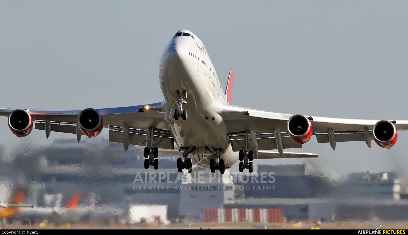Virgin Atlantic G-VLIP aircraft at London - Gatwick