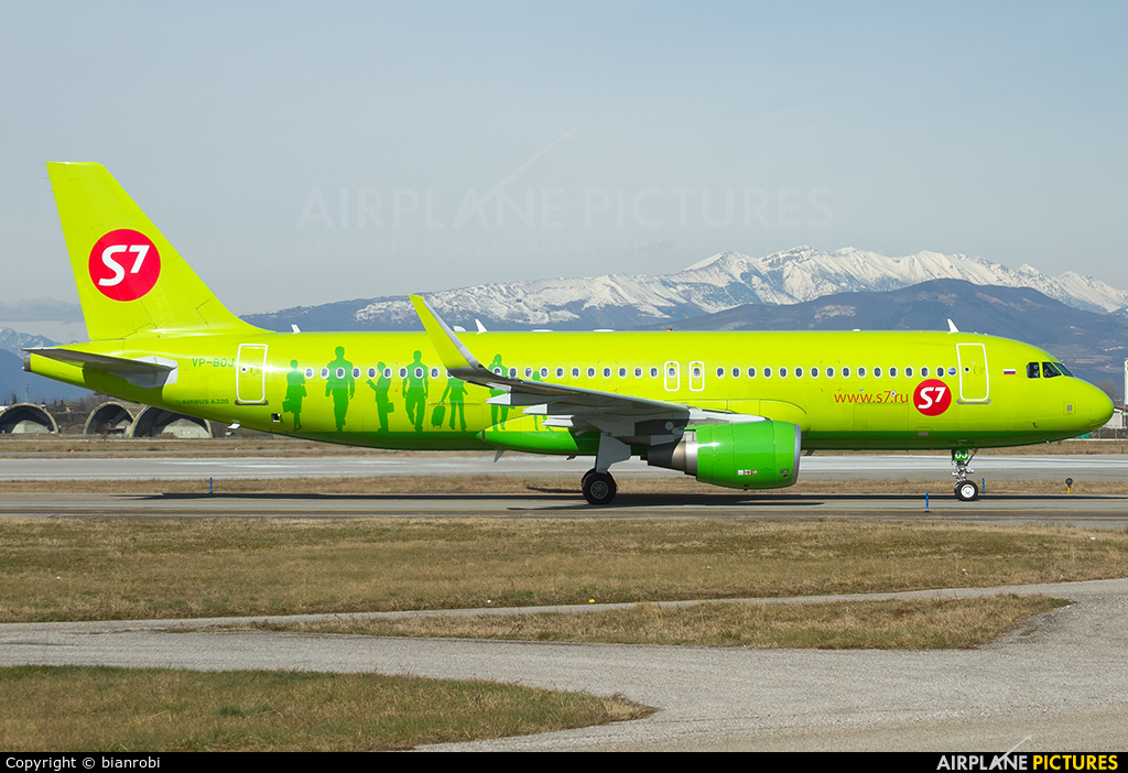 S7 Airlines VP-BOJ aircraft at Verona - Villafranca