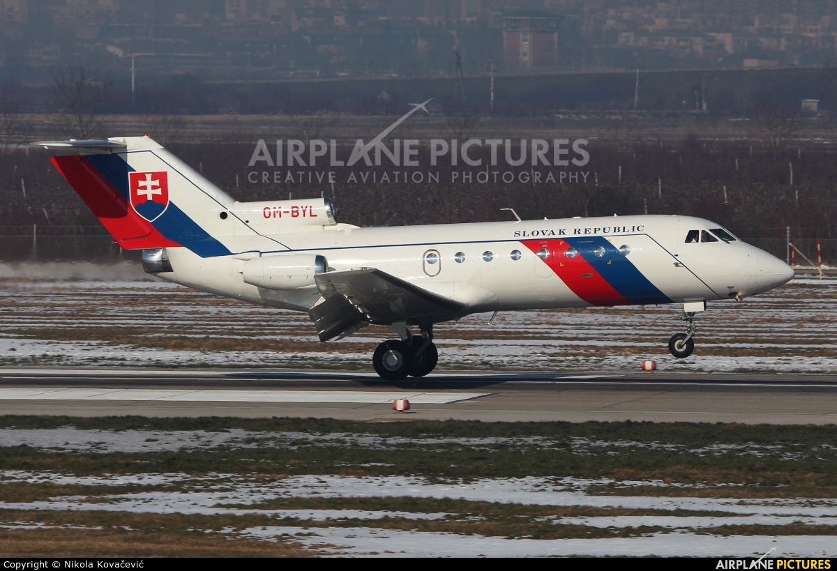 Slovakia - Government OM-BYL aircraft at Zagreb