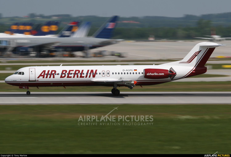 Air Berlin D-AGPG aircraft at Munich