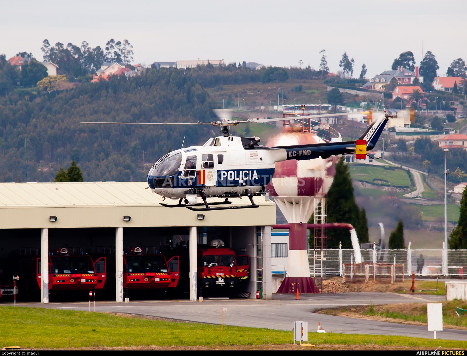 Spain - Police EC-FNO aircraft at La Coruña