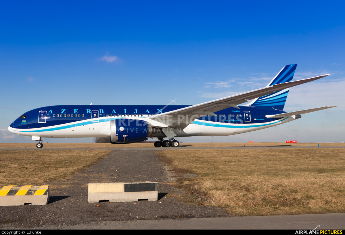 Azerbaijan Airlines VP-BBS aircraft at Prague - Václav Havel