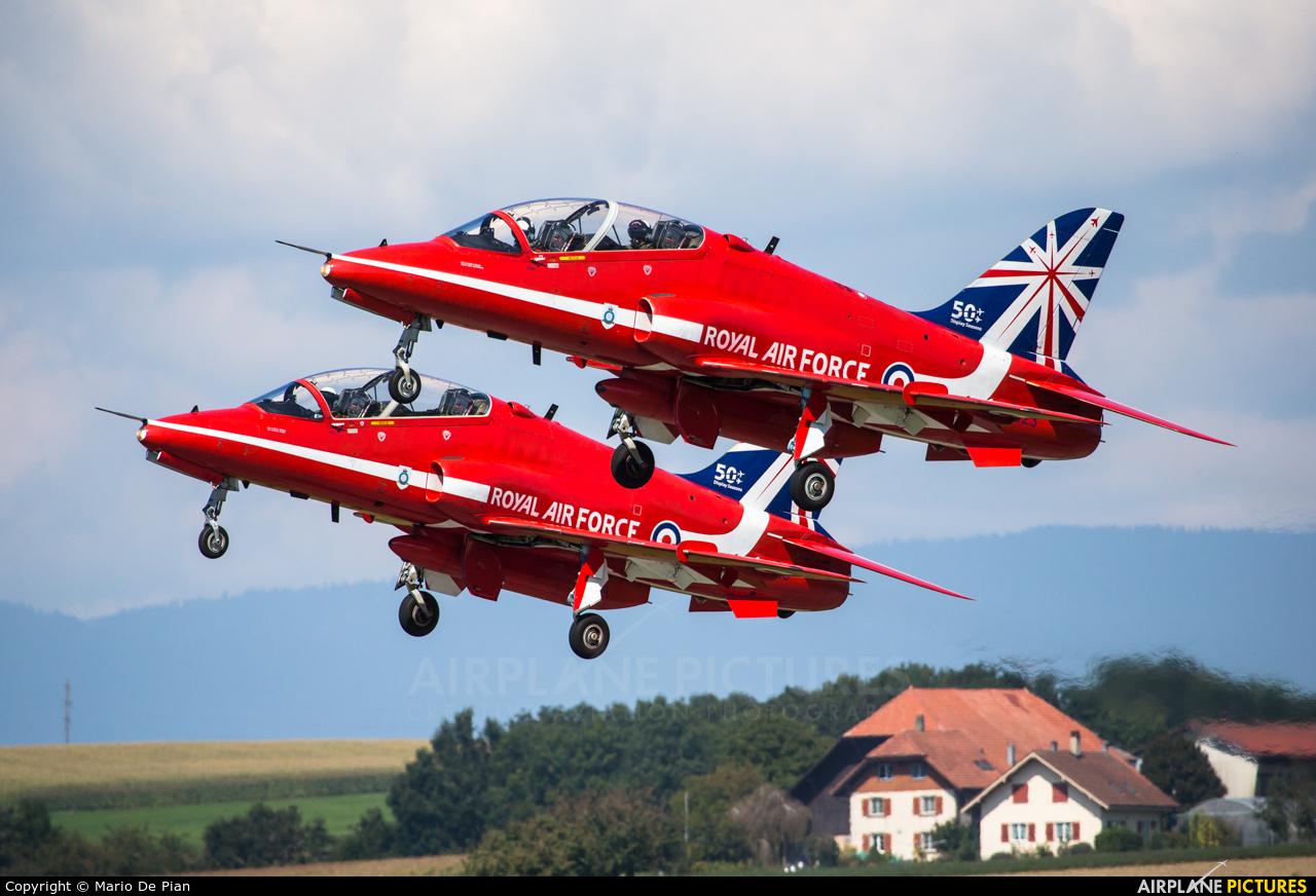 "Royal Air Force ""Red Arrows"" XX323 aircraft at Payerne"