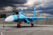 """04 - Russia - Air Force """"Falcons of Russia"""" Sukhoi Su-27 aircraft"""