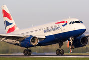 G-EUOF - British Airways Airbus A319 aircraft