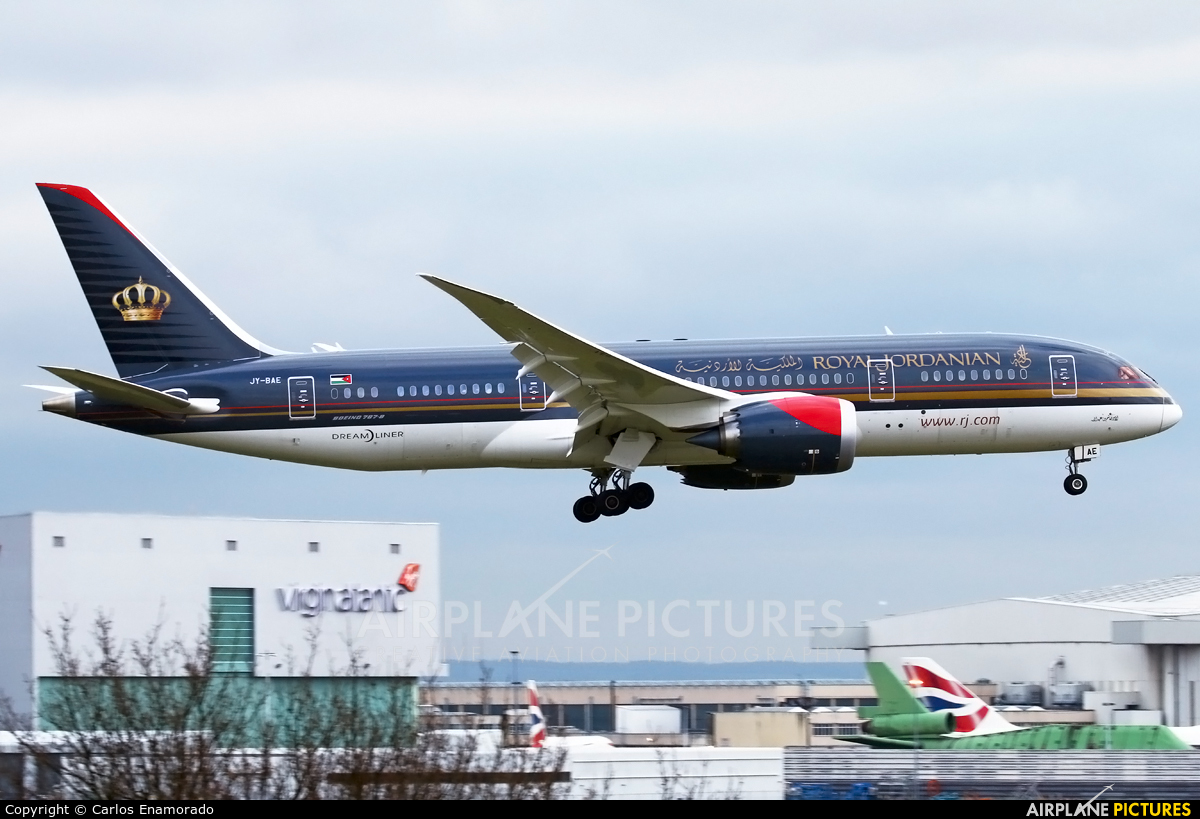 Royal Jordanian JY-BAE aircraft at London - Heathrow