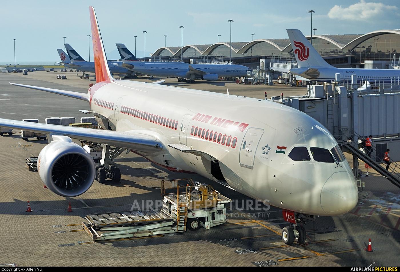 Air India VT-ANC aircraft at HKG - Chek Lap Kok Intl