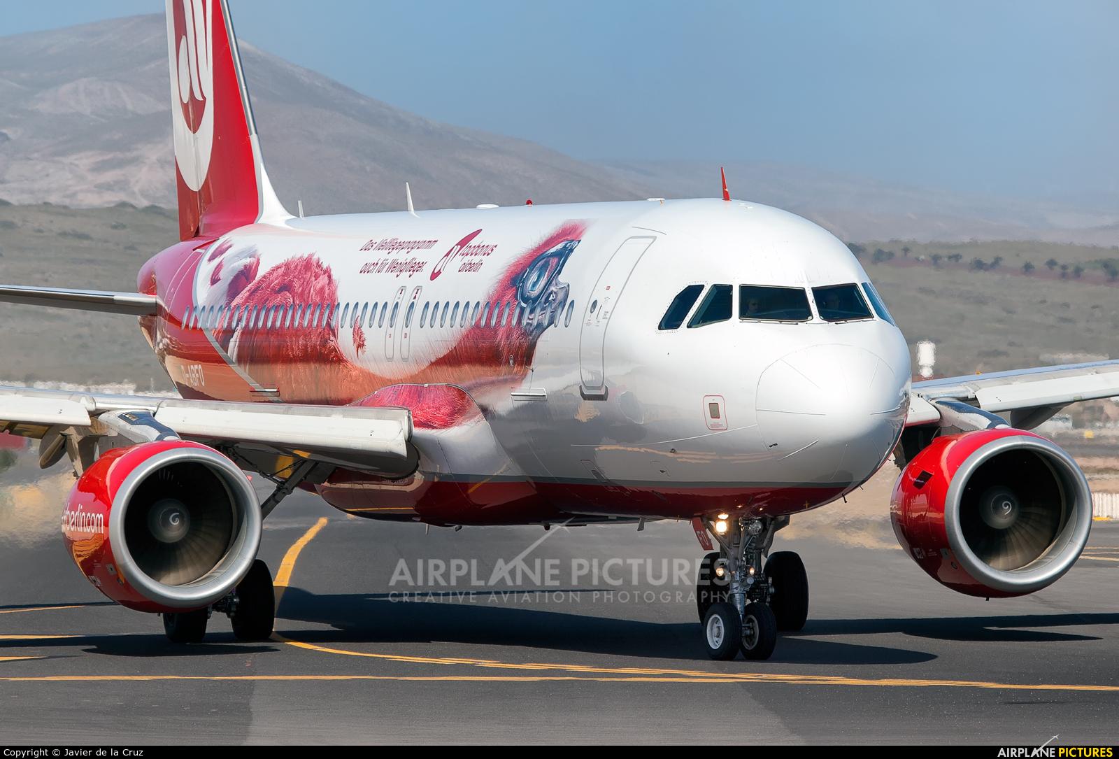 Air Berlin D-ABFO aircraft at Lanzarote - Arrecife