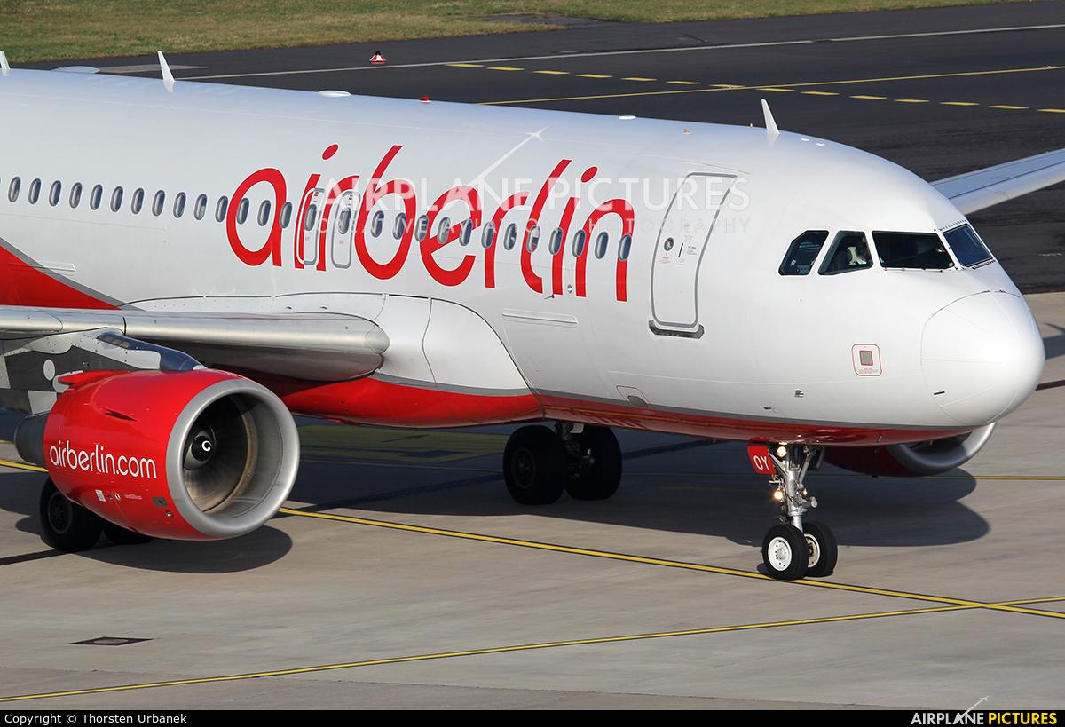 Air Berlin - Belair HB-JOY aircraft at Düsseldorf