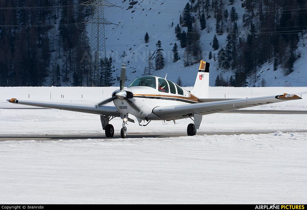 Private HB-EJM aircraft at Samedan - Engadin