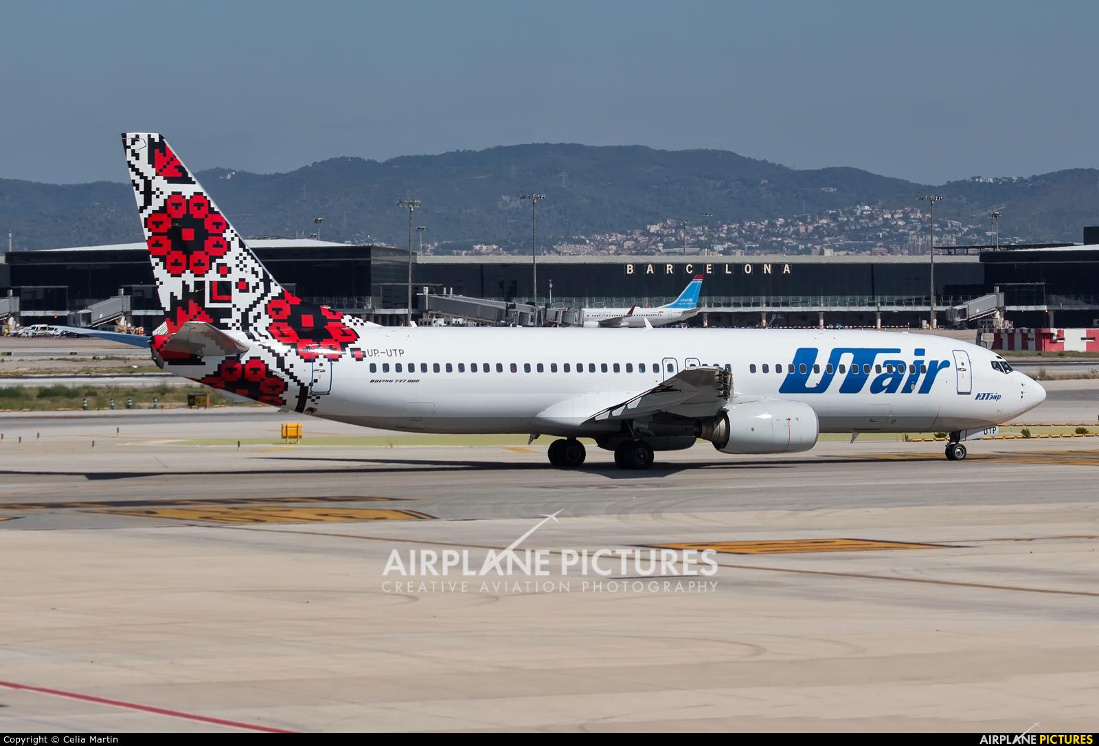 UTair Ukraine UR-UTP aircraft at Barcelona - El Prat