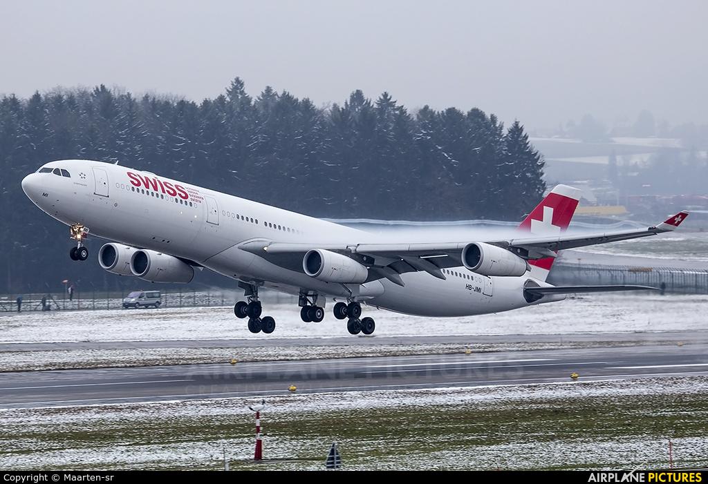 Swiss HB-JMI aircraft at Zurich