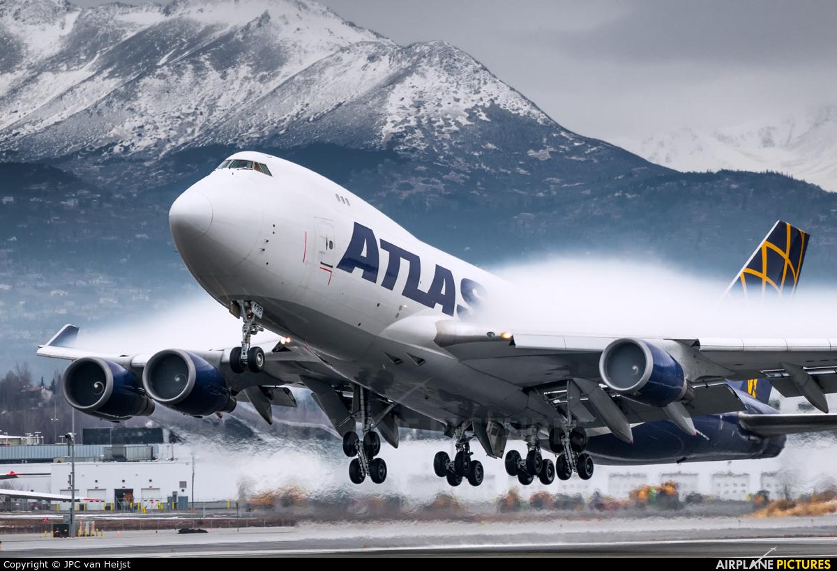 Atlas Air N498MC aircraft at Anchorage - Ted Stevens Intl / Kulis Air National Guard Base