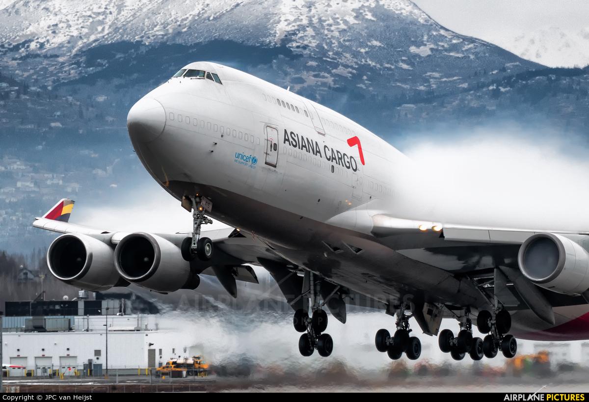 Asiana Cargo HL7415 aircraft at Anchorage - Ted Stevens Intl / Kulis Air National Guard Base