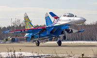 "02 - Russia - Air Force ""Russian Knights"" Sukhoi Su-27UB aircraft"