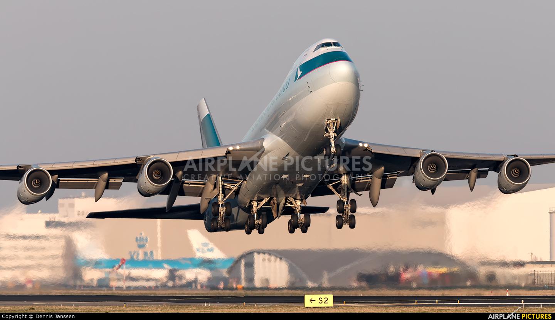 Cathay Pacific Cargo B-HUL aircraft at Amsterdam - Schiphol