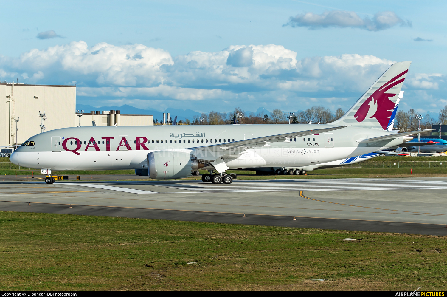 Qatar Airways A7-BCU aircraft at Everett - Snohomish County / Paine Field