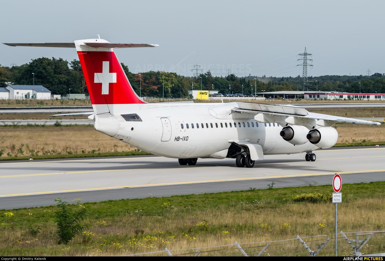 Swiss HB-IXO aircraft at Frankfurt