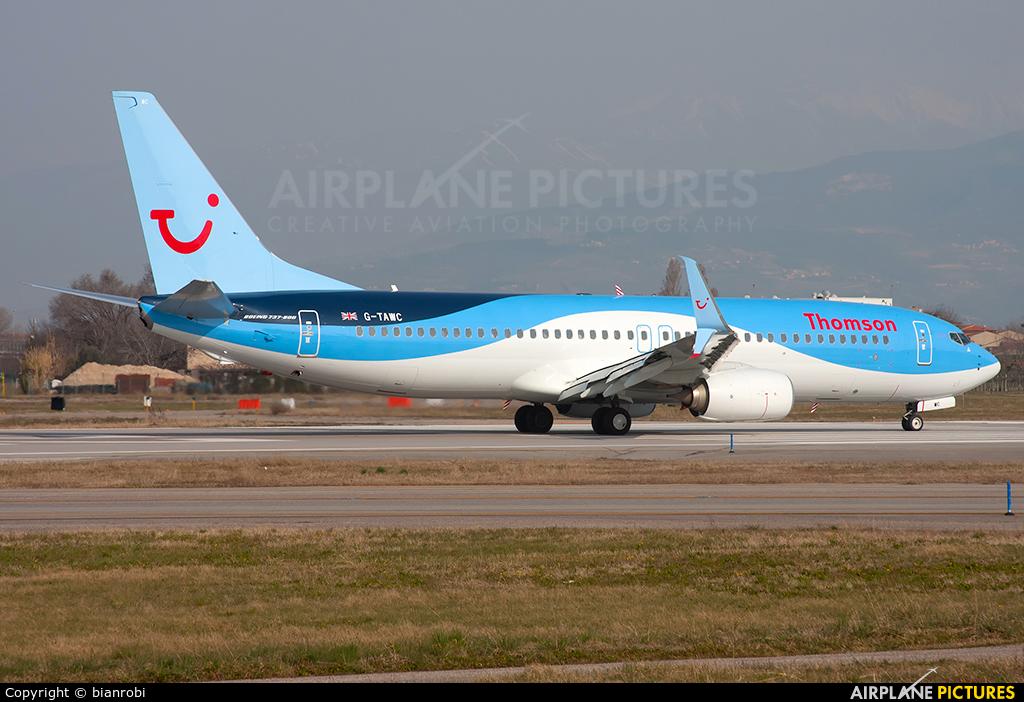 Thomson/Thomsonfly G-TAWC aircraft at Verona - Villafranca