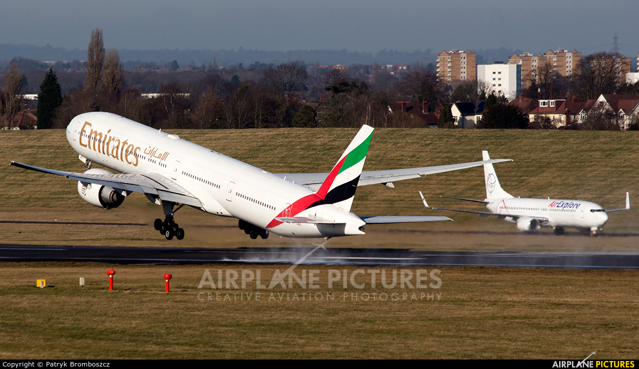Emirates Airlines A6-EBS aircraft at Birmingham
