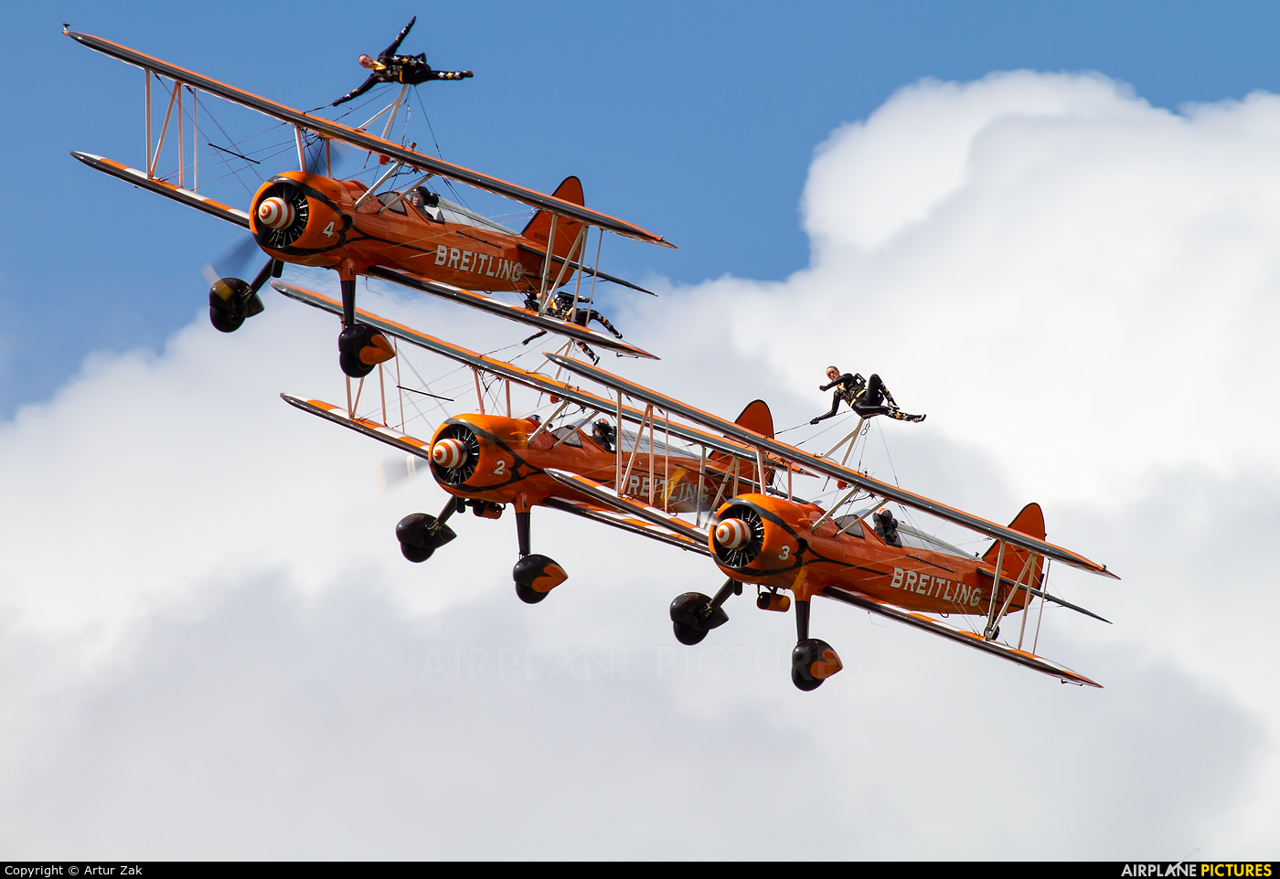 Breitling Wingwalkers - aircraft at Fairford