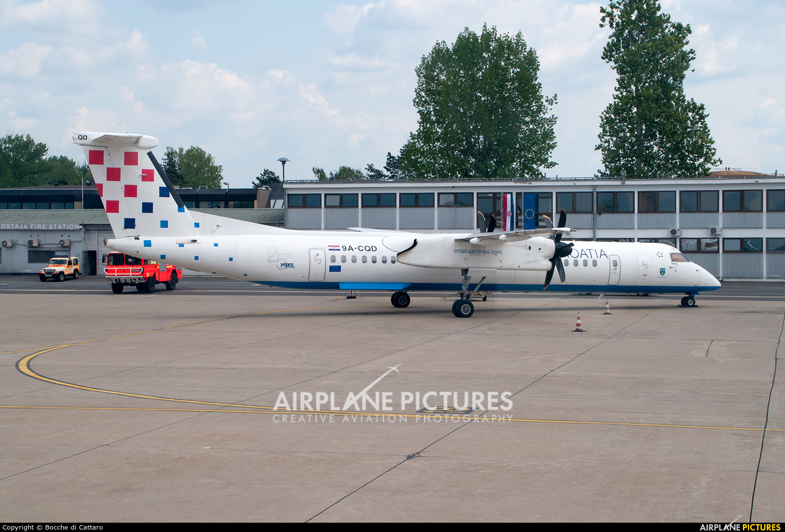 Croatia Airlines 9A-CQD aircraft at Zagreb