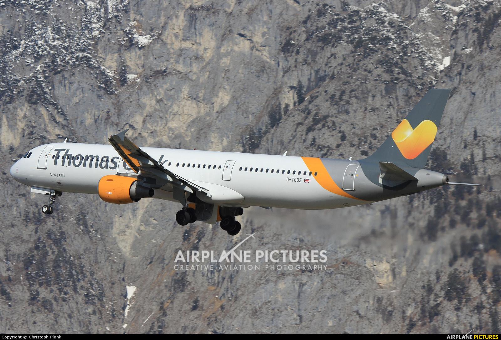 Thomas Cook G-TCDZ aircraft at Innsbruck