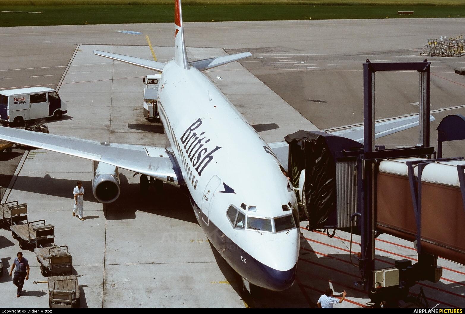 British Airways G-BGDK aircraft at Zurich