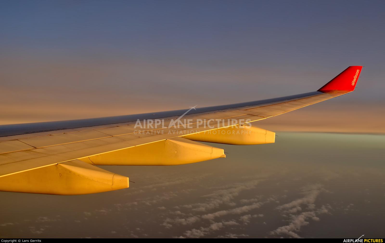 Air Berlin D-ALPJ aircraft at In Flight - International