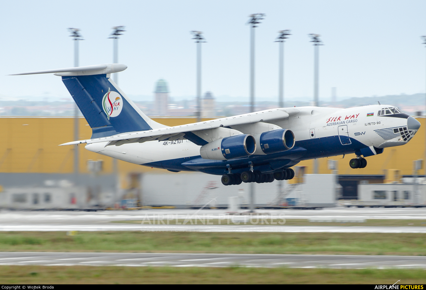 Silk Way Airlines 4K-AZ101 aircraft at Leipzig - Halle