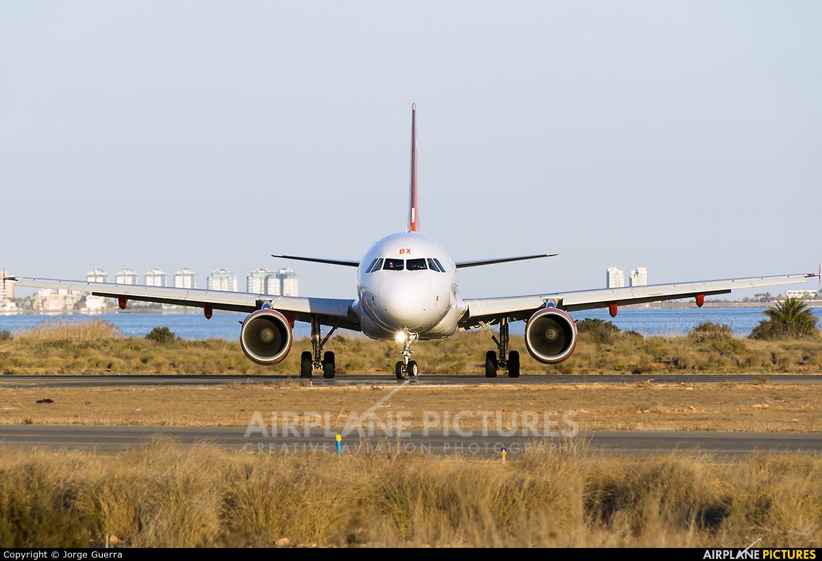 easyJet G-EZBX aircraft at Murcia - San Javier