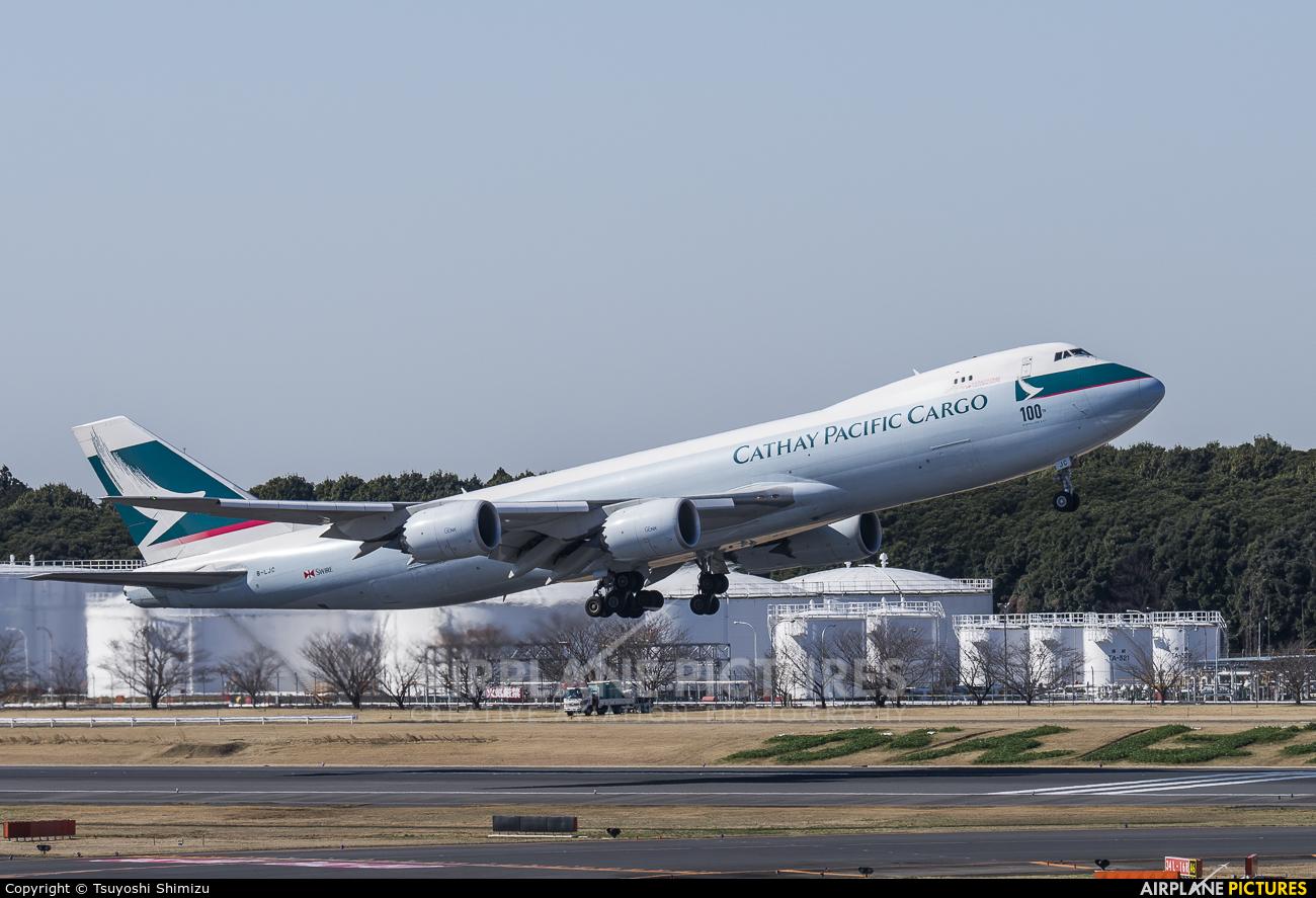 Cathay Pacific Cargo B-LJC aircraft at Tokyo - Narita Intl