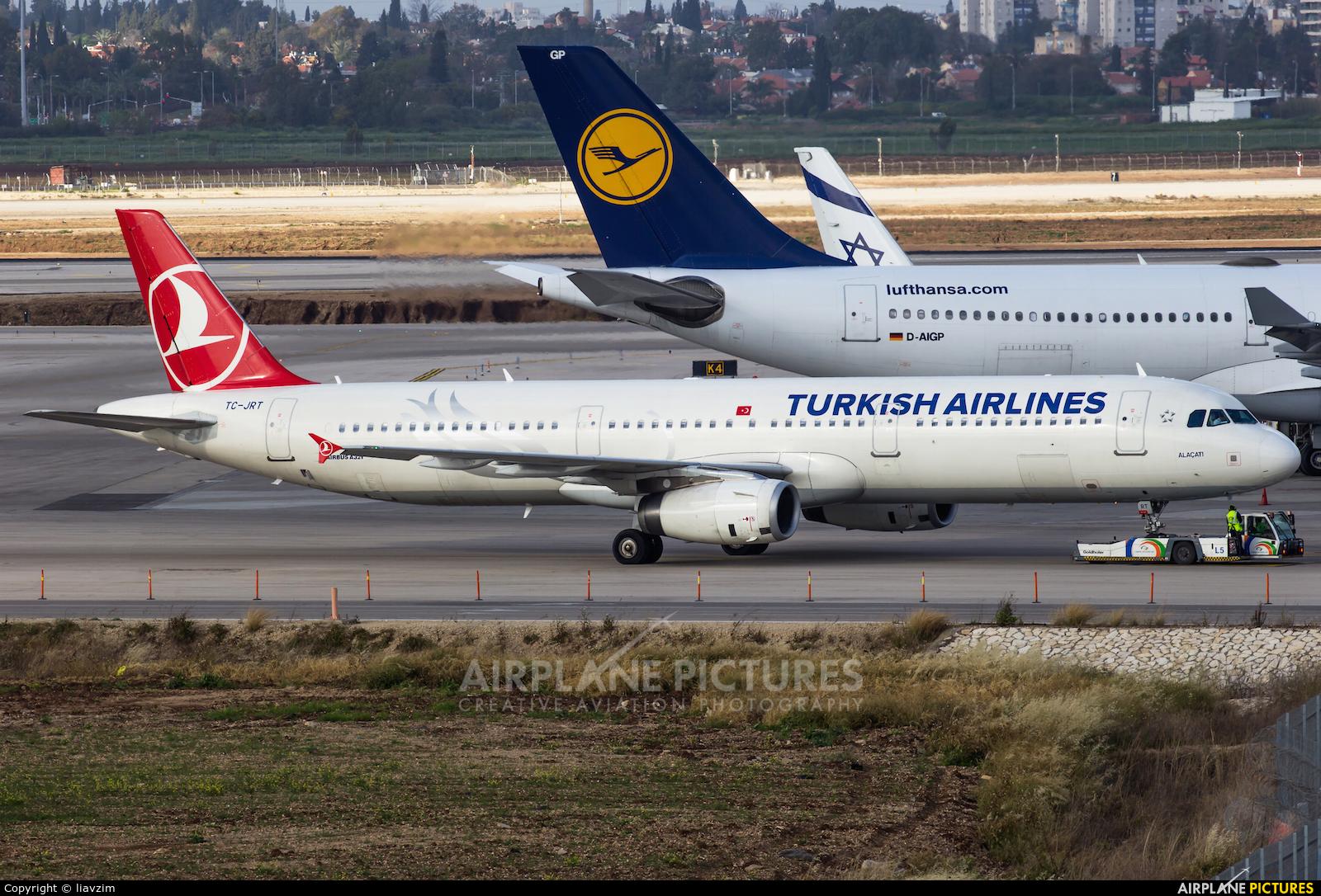 Turkish Airlines TC-JRT aircraft at Tel Aviv - Ben Gurion