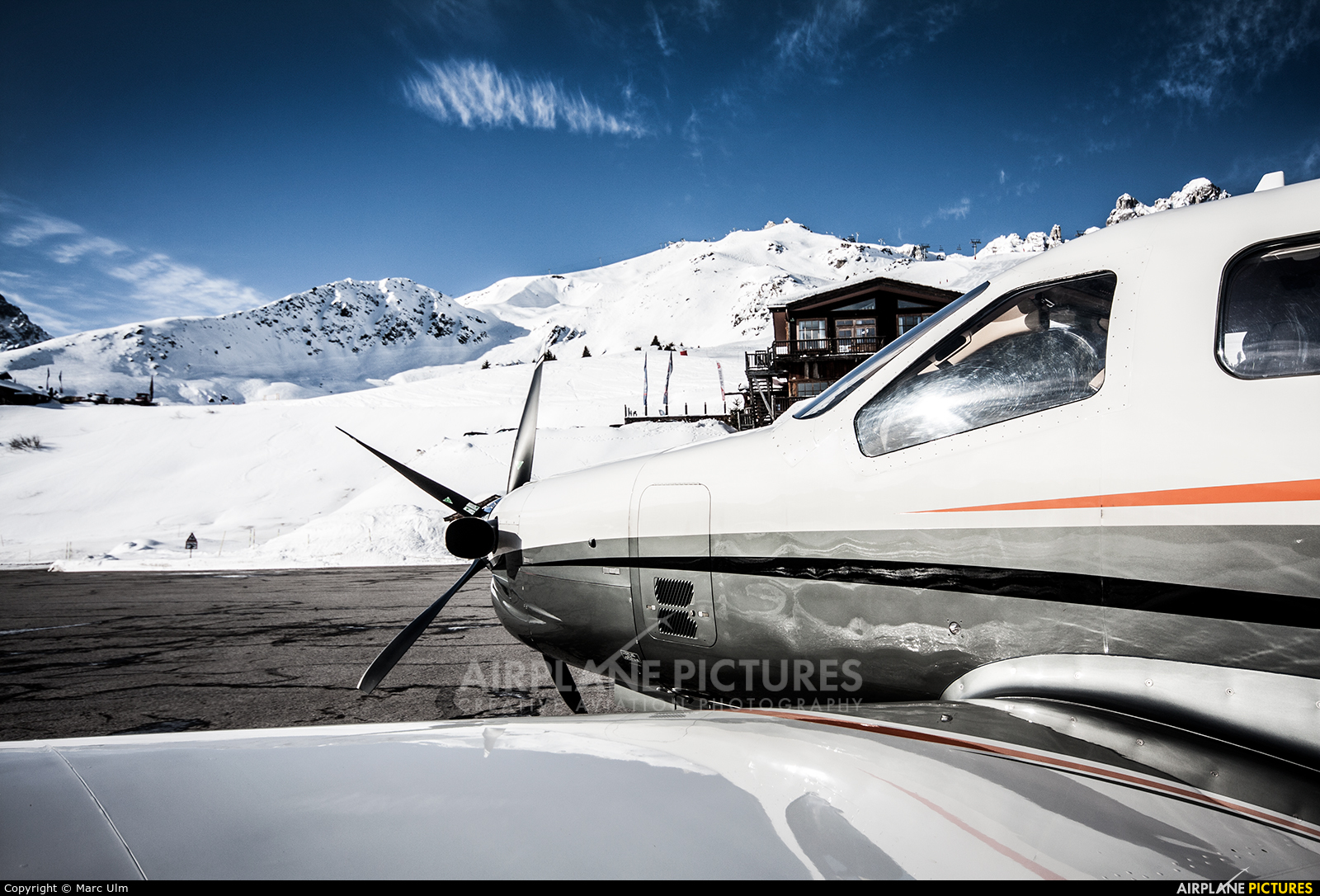 Private D-FKAE aircraft at Courchevel