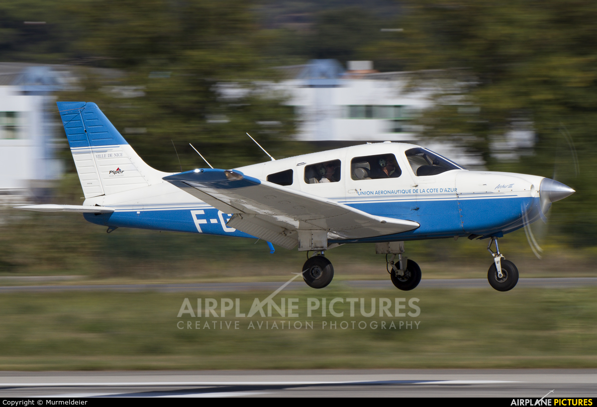 Private F-GNCH aircraft at Cannes - Mandelieu