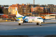 Special livery to celebrate Malmö Aviation taking over the sponsorship for Ski Team Sweden title=