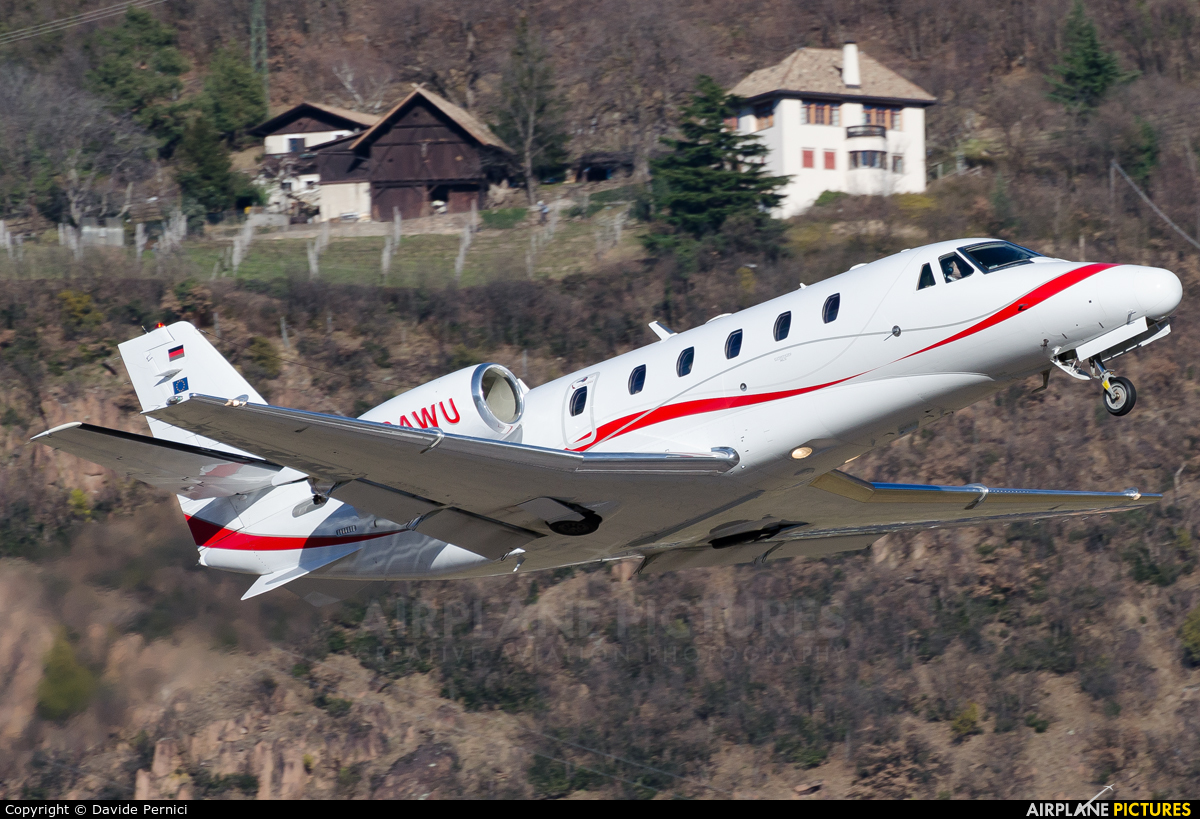 Private D-CAWU aircraft at Bolzano