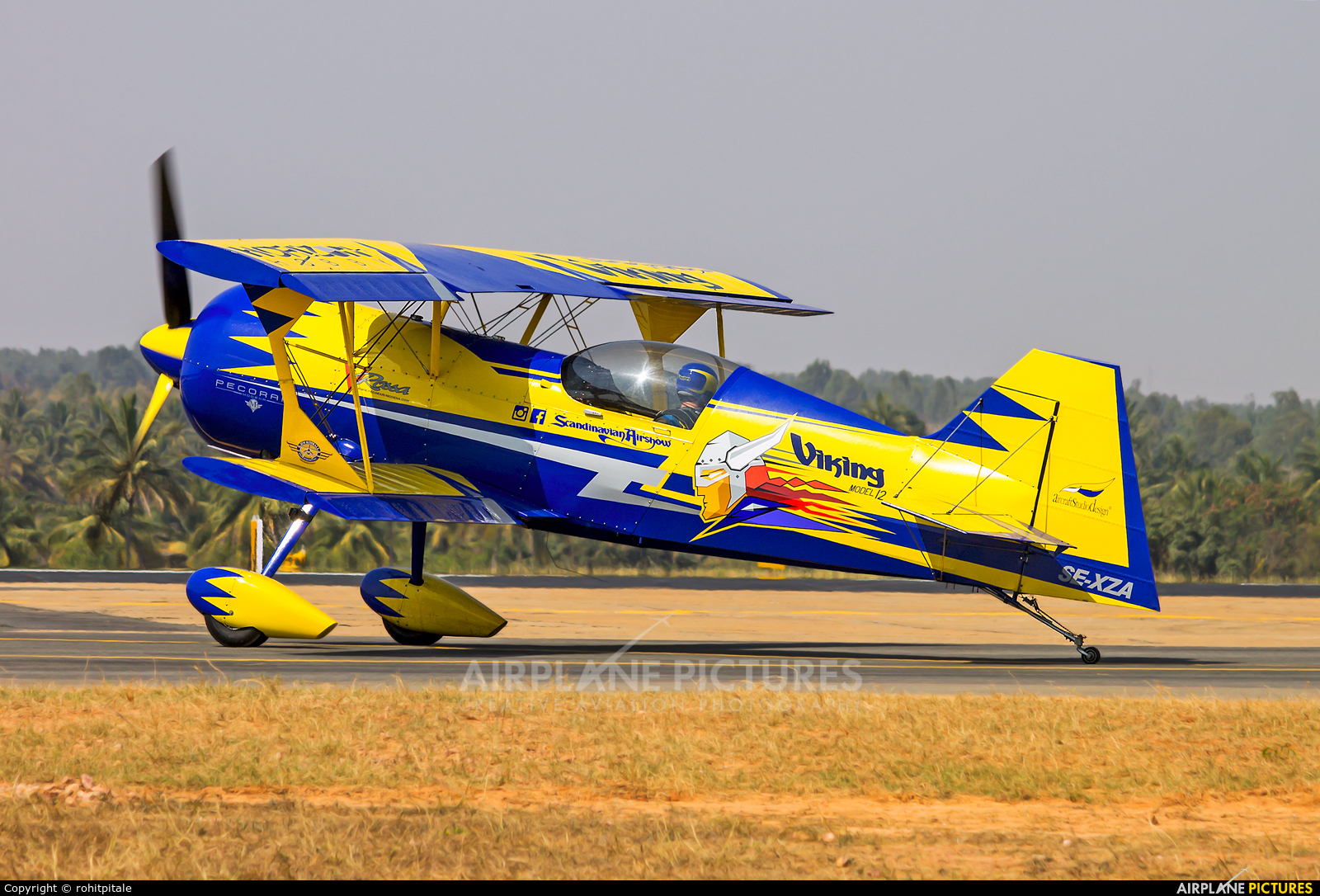 Private SE-XZA aircraft at Yelahanka AFB