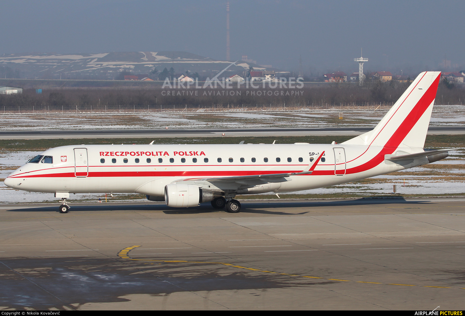 Poland - Government SP-LIG aircraft at Zagreb