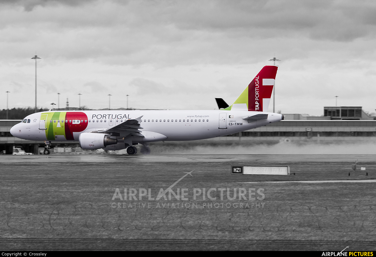 TAP Portugal CS-TMW aircraft at Manchester