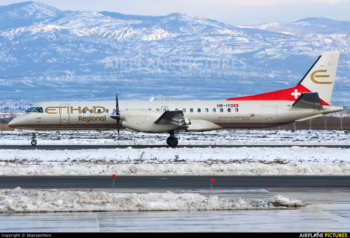 Etihad Regional - Darwin Airlines HB-IYD aircraft at Pristina Intl