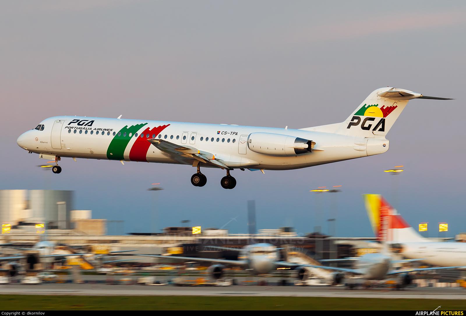 PGA Portugalia CS-TPA aircraft at Lisbon