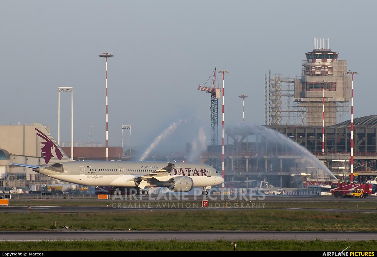Qatar Airways A7-BCB aircraft at Rome - Fiumicino