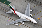 A6-EEU - Emirates Airlines Airbus A380 aircraft
