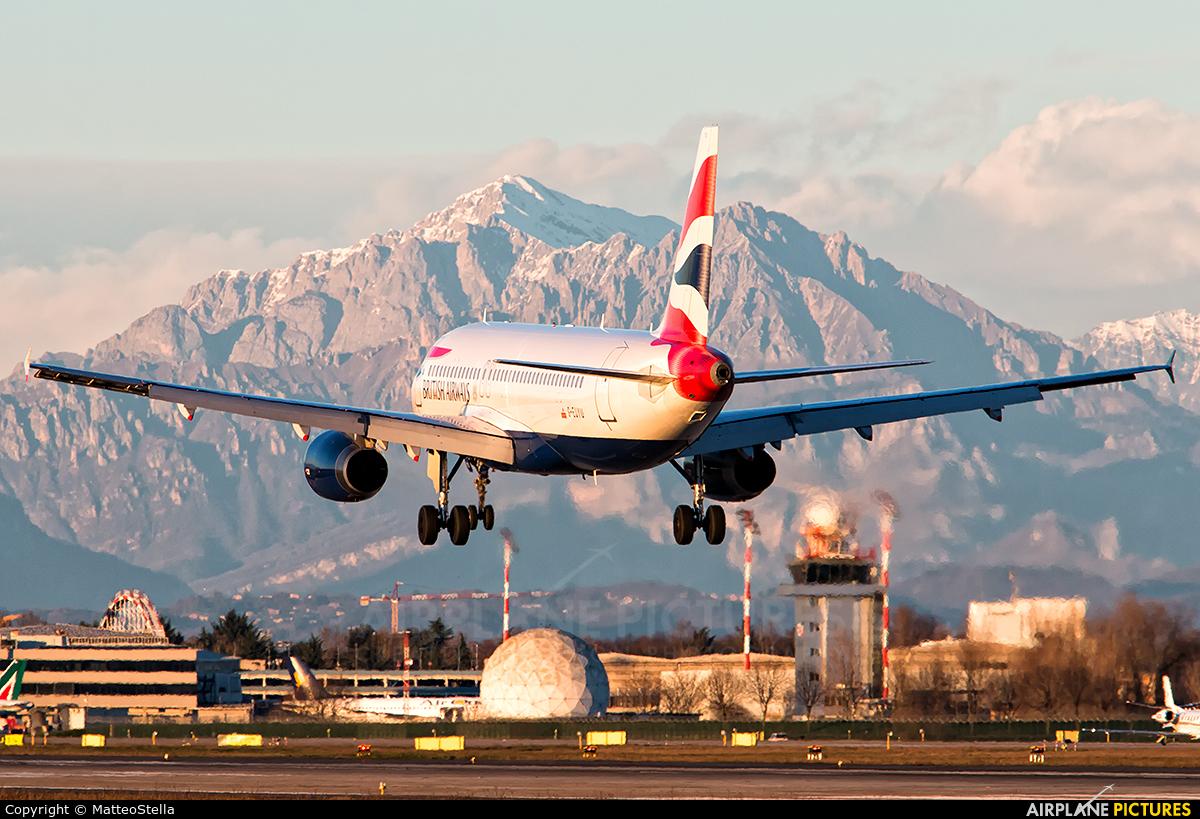 British Airways G-EUYU aircraft at Milan - Linate