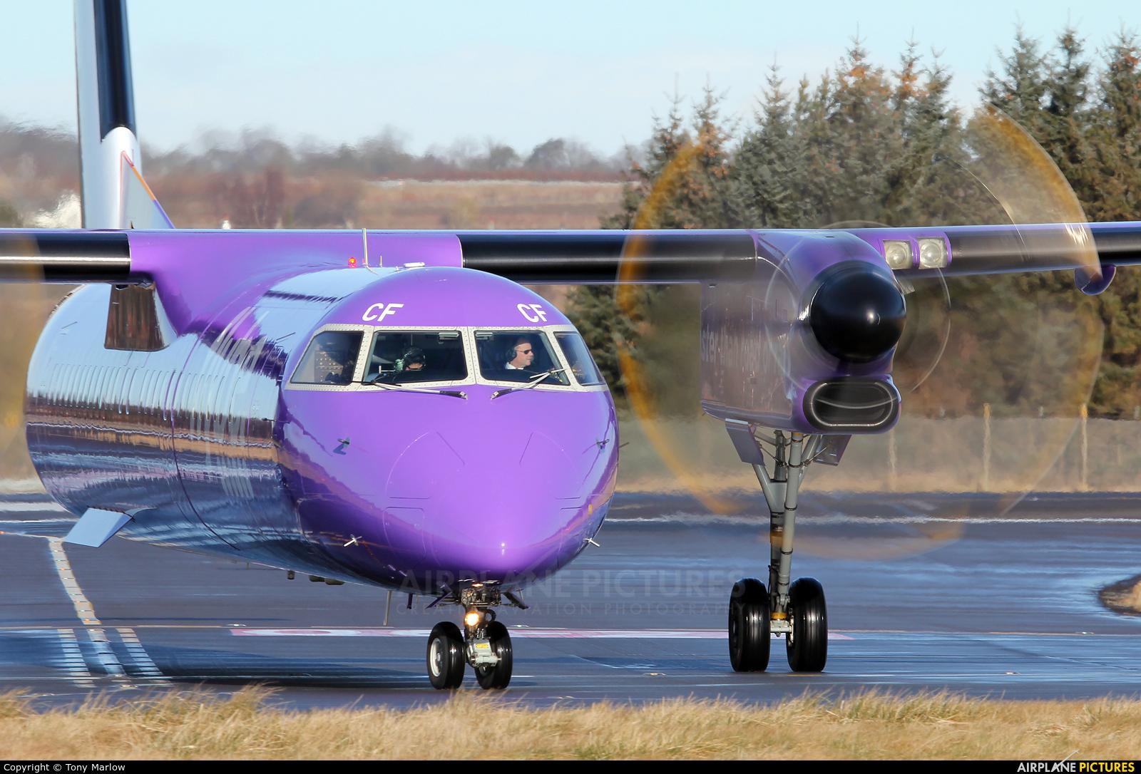 Flybe G-JECF aircraft at Edinburgh