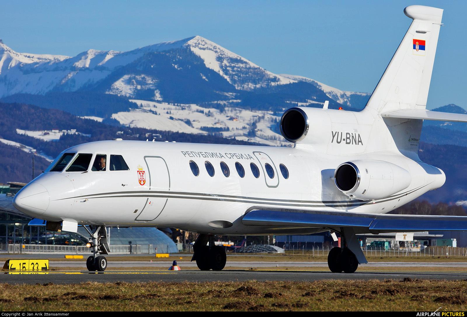Serbia - Government YU-BNA aircraft at Salzburg