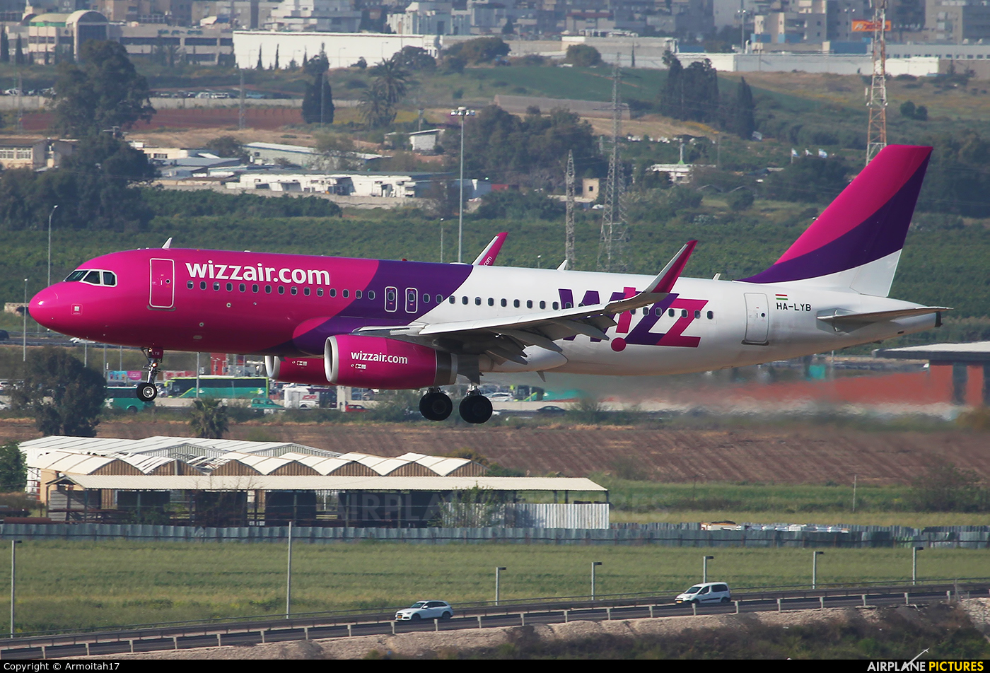 Wizz Air HA-LYB aircraft at Tel Aviv - Ben Gurion