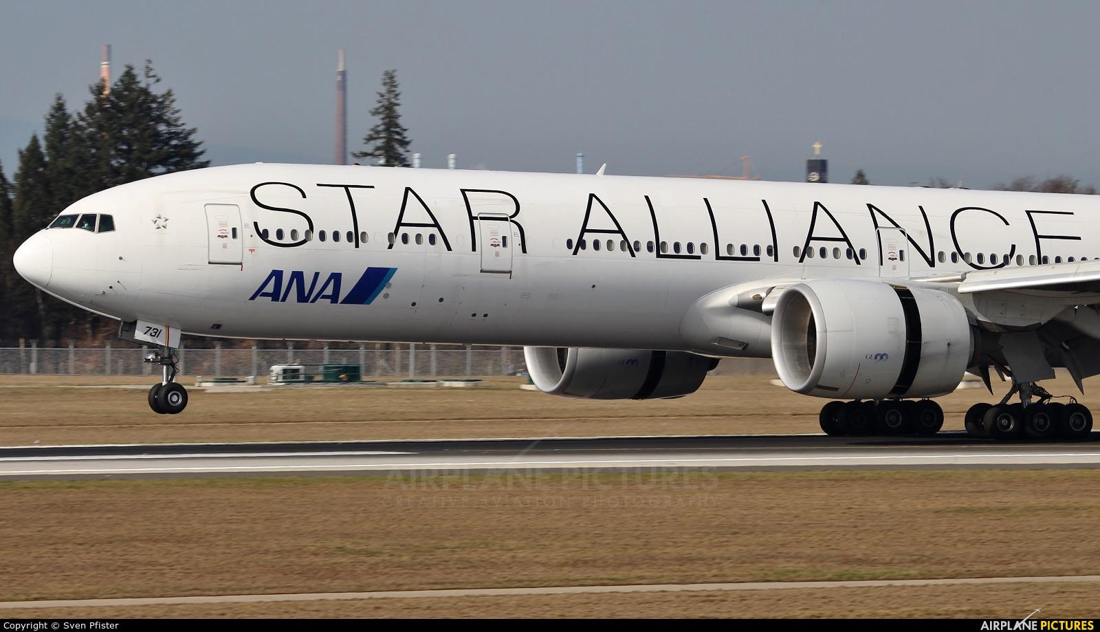 ANA - All Nippon Airways JA731A aircraft at Frankfurt
