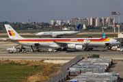 Rare visit of Iberia Airbus A340-600 in Tel Aviv title=
